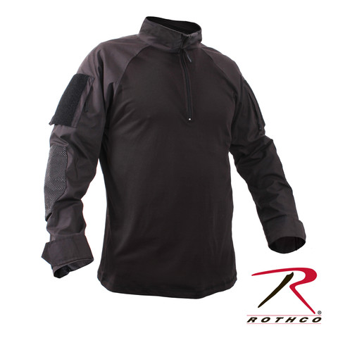 Rothco 1/4 Zip Military Combat Tactical Shirt - Full View