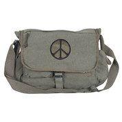 Retro Peace Sign Messengers Shoulder Bag