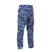 Sky Blue Digital Camo BDU Fatigue Pants - View