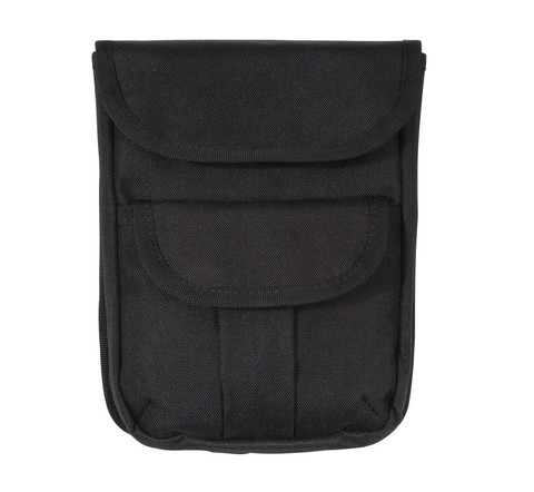 Black MOLLE 2-Pocket Ammo Pouch - Front View