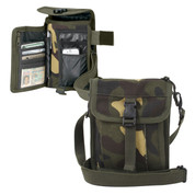 Camo Travel Portfolio Passport Bag - Combo View