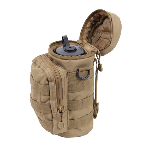 MOLLE Compatible Water Bottle Pouch - Side Open View