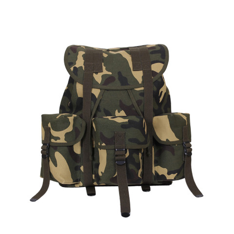 Kids Camo Army Ranger Backpack - Front View