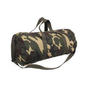 Camo Canvas Sports Shoulder Bag  - Left Angle View