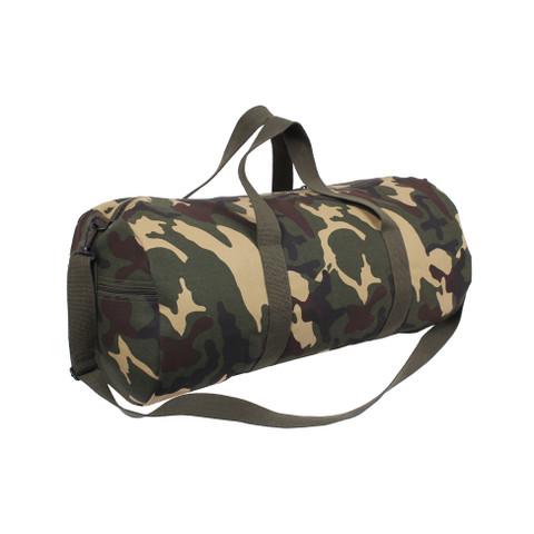 Camo Canvas Sports Shoulder Bag  - Left Angle View