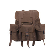 Brown Canvas Mini Alice Backpack - Front View
