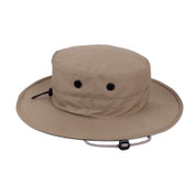 Adjustable Khaki Outdoor Boonie Hat - Side View