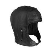 riginal Vintage Style Black Leather Pilots Helmet - View