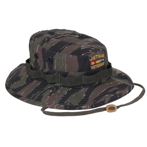 Vietnam Veteran Tiger Stripe Boonie Hat - View