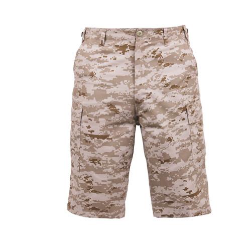 Rothco Desert Digital Long Length BDU Shorts - Front View