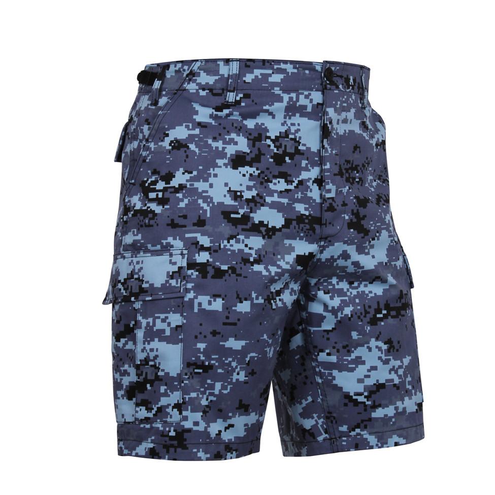 Shop Blue Digital Camo Military Shorts - Fatigues Army Navy 01537985e64d