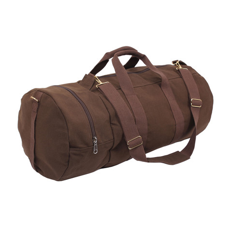 Earth Brown Double Ender Sports Bag - Side View