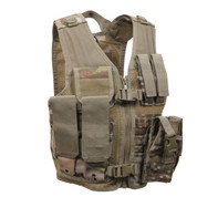 Kids Multi Camo Tactical Cross Draw Vest - Front View