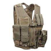 Kids Multi Camo Tactical Cross Draw Vest - Front View