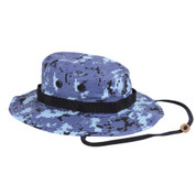 Sky Blue Digital Camo Boonie Hat - Full View