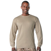 Desert Khaki Long Sleeve T Shirt - View