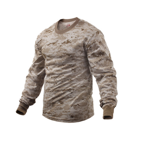 Desert Digital Long Sleeve T Shirts - View