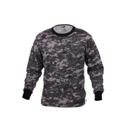 Subdued Urban Digital Long Sleeve T Shirt - Front View