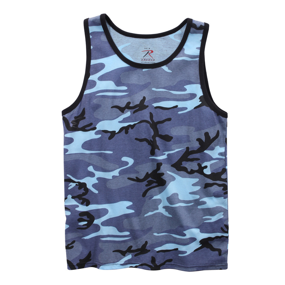 e9b92c9e94455e Shop Sky Blue Camo Tank Tops - Fatigues Army Navy