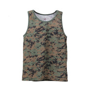 Woodland Digital Camo Tank Tops - View