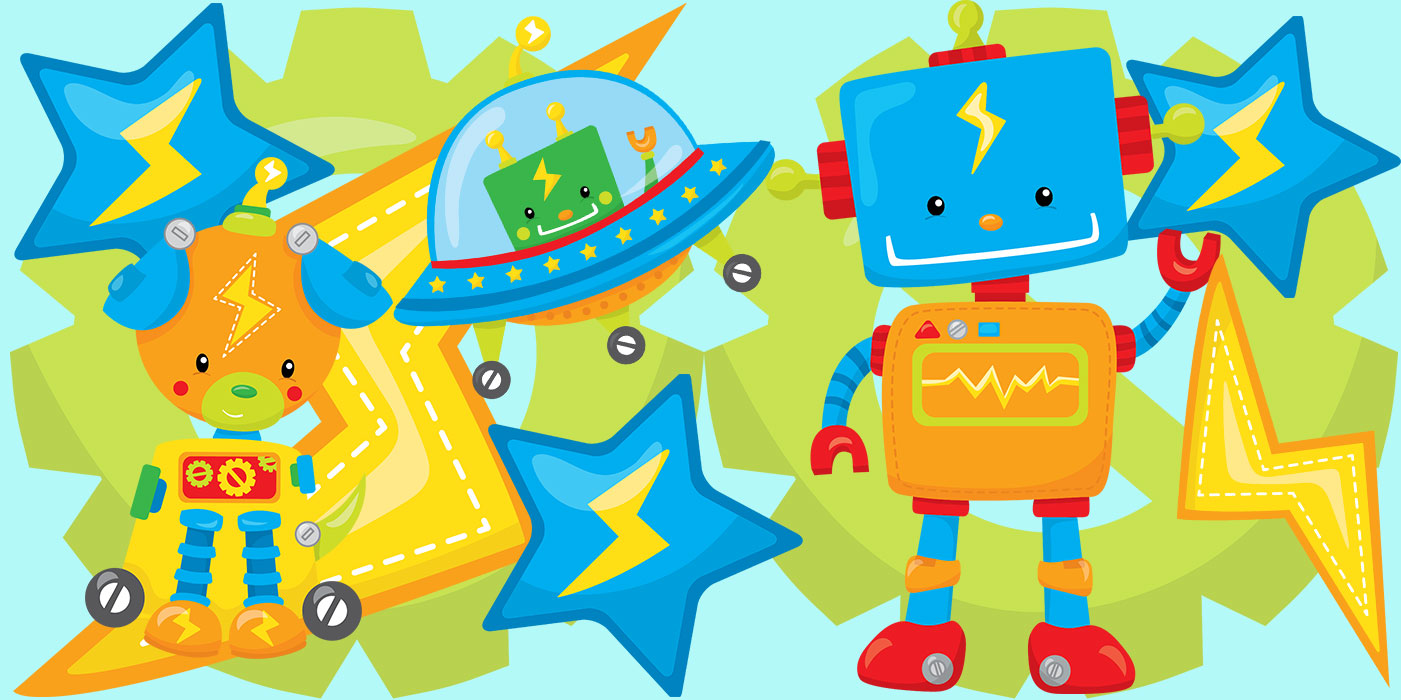 Robot Party Header