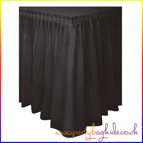 Midnight Black Table Skirt