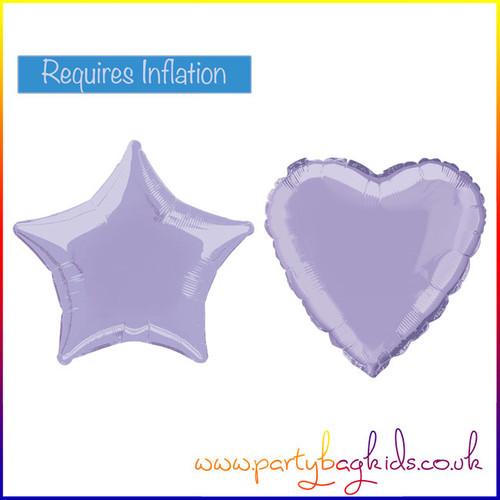 Lavender Foil Balloon Shapes