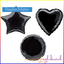 Midnight Black Foil Balloon Shapes