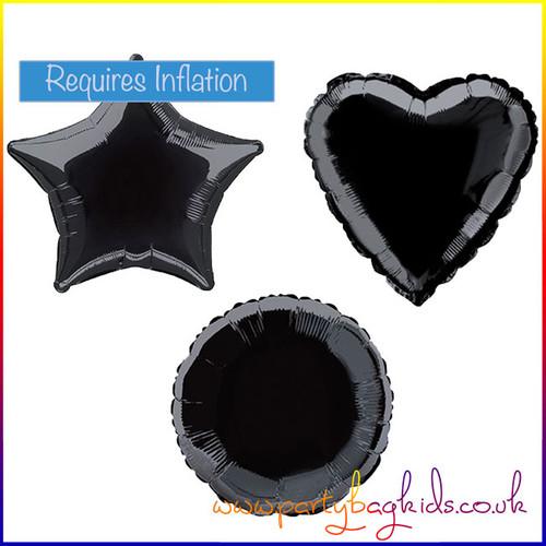 Midnight Black Foil Balloon Shapes