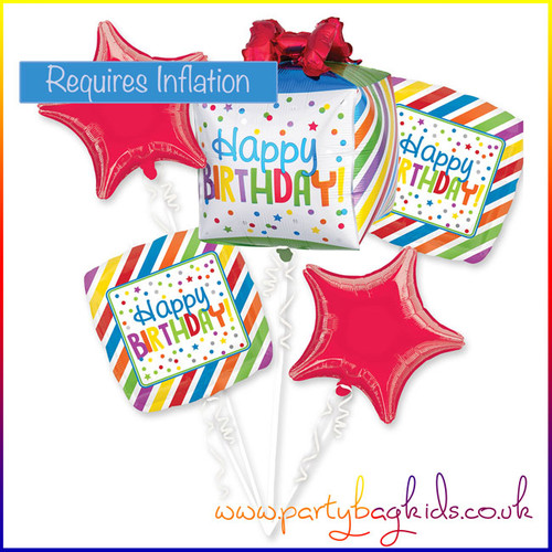 Happy Birthday Bright Balloon Bouquet