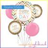 Happy Birthday Pastel Balloon Bouquet Kit