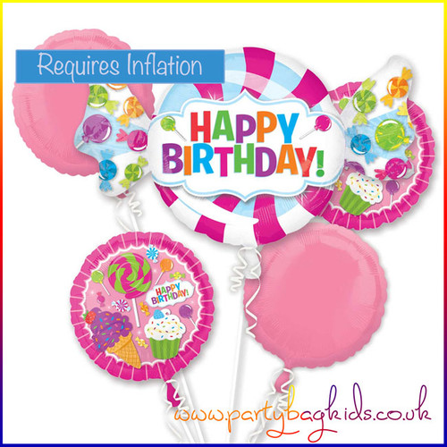 Happy Birthday Sweet Shop Balloon Bouquet Kit