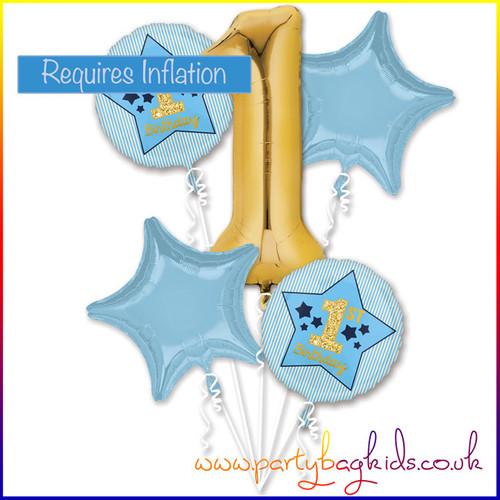 First Birthday Blue Balloon Bouquet Kit