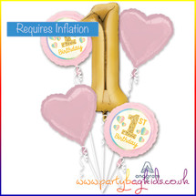 First Birthday Pink Balloon Bouquet Kit