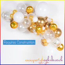 Gold and White Balloon Garland Kit