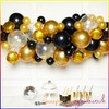 Gold and Black Balloon Garland Kit