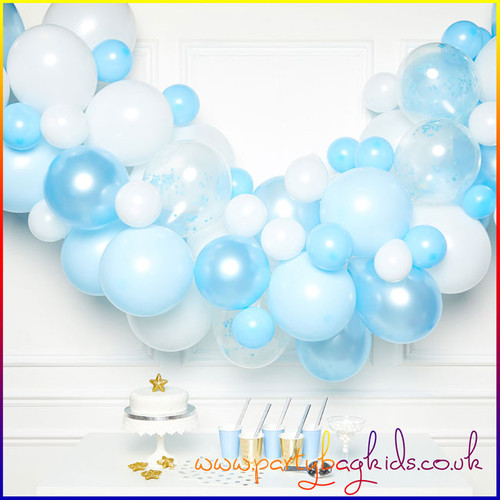 Blue and White Balloon Garland Kit
