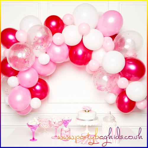 Pink and White Balloon Garland Kit