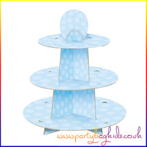 Blue Party Cup Cake Stand