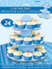 Blue Cup Cake Stand