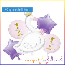 Balloon Bouquets: Ballerina Swan First Birthday Balloon Bouquet Kit