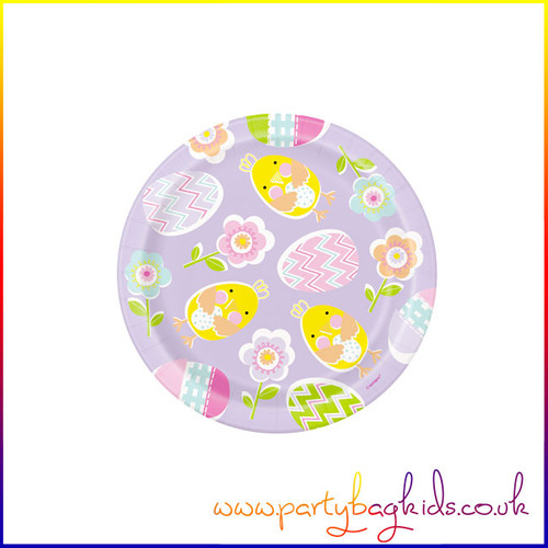 "Lilac Easter 7"" Paper Desert Plates"