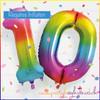 Rainbow Foil Balloon - TEN
