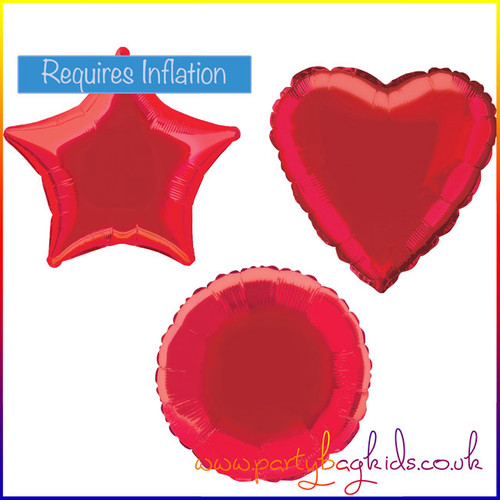Ruby Red Foil Balloon Shape Selection
