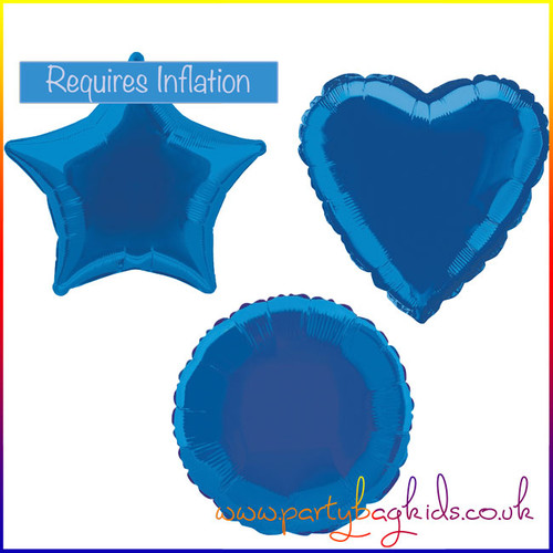 Royal Blue Foil Balloon Shape Selection