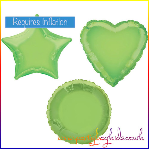 Lime Green Foil Balloon Shape Selection