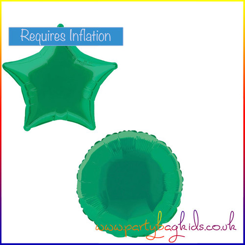Forest Green Foil Balloon Shape Selection