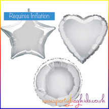 Silver Foil Balloon Shapes Selection