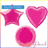 Hot Pink Foil Balloon Shapes Selection