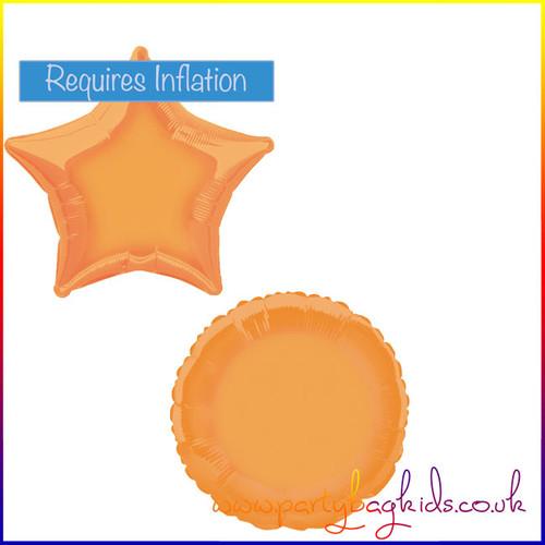 Pumpkin Orange Foil Balloon Shapes